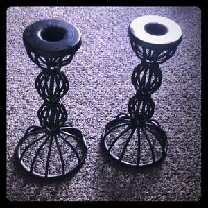 2 piece metal candle stands